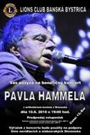 plagát ku koncertu Pavla Hammela v Hronseku